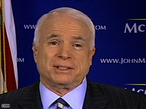 Sen. John McCain says he has a plan to get the economy in order.