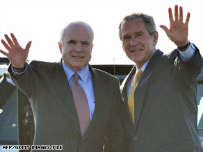 John McCain's campaign wants voters to know that he and President Bush are very different people.