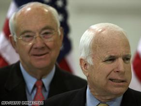 Phil Gramm, left, is an economic adviser for Sen. John McCain.