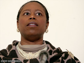 Cynthia McKinney represented a suburban Atlanta, Georgia, district for six terms as a Democrat.