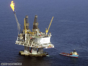 If President Bush can persuade Congress, more oil rigs like this one off Canada could appear off U.S. shores.