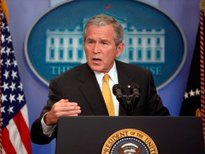 President Bush says he objects to the bill because it takes &#039;choices away from seniors to pay physicians.&#039;