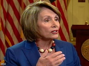 "House Speaker Nancy Pelosi says ""I disapprove of Congress' performance in terms of ending the war."""