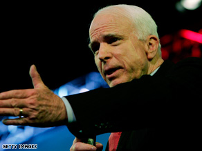 "Sen. John McCain is criticizing Sen. Barack Obama for his opposition last year to the ""surge"" in Iraq."