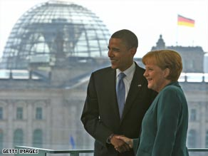Obama will speak in Germany Thursday.