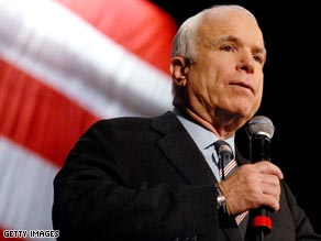 John McCain is campaigning but an opinion poll indicates media bias against him.