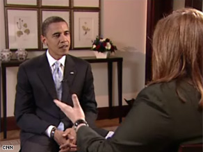 Sen. Barack Obama talks to CNN's Candy Crowley about his overseas trip.