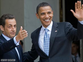 Obama presses the flesh in Germany after his speech in Berlin's Tiergarten Park on Thursday.