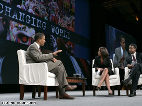 Sen. Barack Obama says he's not sure what the political effects of his trip will be.