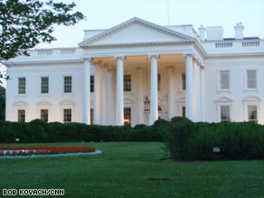 The White House blames a faltering economy and the stimulus package for the increased budget deficit.