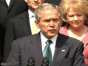 "Americans ""are counting on Congress to lift the ban"" on offshore drilling, President Bush says."