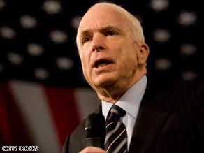 Sen. Barack Obama says John McCain offers the same policies as President Bush.