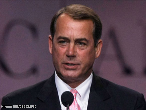Minority Leader John Boehner wants to continue on the House floor until at least August 22.