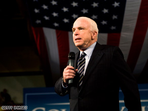 Sen. John McCain has given no indication of his vice presidential choice.