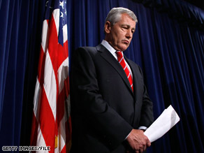 Sen. Chuck Hagel of Nebraska is leaving office after his current term.