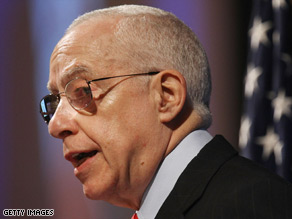 Attorney General Michael Mukasey addresses the American Bar Association meeting Tuesday in New York.