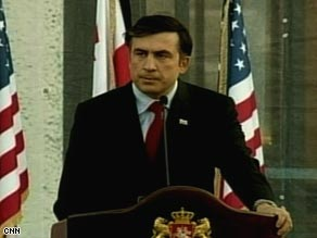Georgia President Mikheil Saakashvili announces Friday he signed a cease-fire agreement with Russia.