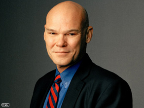 James Carville says Barack Obama's campaign wants him to be &quot;cool and calm&quot; but he needs to show outrage.