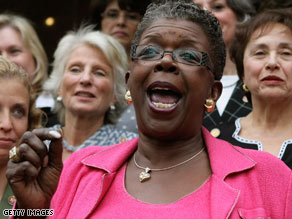 Tubbs Jones, seen in 2005, was the first female black U.S. representative from Ohio. She was elected in 1998.