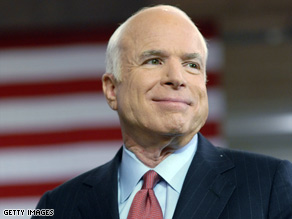 Sen. John McCain's camp received two threatening letters, including one that contained white powder.