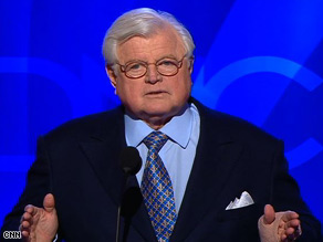 Sen. Edward Kennedy endorses Sen. Barack Obama in January.