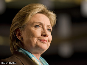 Sen. Hillary Clinton praised the choice of a female for McCain's vp.