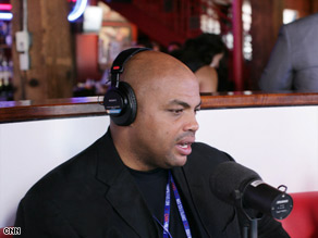 Former NBA star Charles Barkley says the next president must deal with poverty and the war in Iraq.