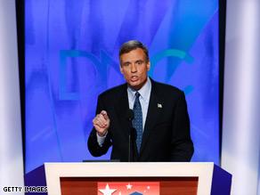 Mark Warner said Tuesday that America should look to the future with hope, not fear.