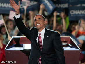 Sen. Barack Obama accepted his party's nomination for the presidency Thursday night.