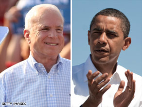 Sens. Barack Obama and John McCain are in a virtual tie, according to the latest poll.