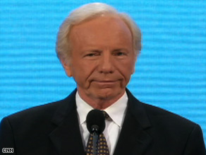 "Sen. Joe Lieberman said he is supporting John McCain because ""country matters more than party."""