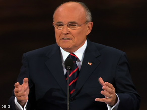 Former New York City Mayor Rudy Giuliani says Gov. Sarah Palin represents a new generation.
