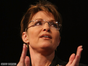 "Gov. Sarah Palin on Wednesday praised John McCain as a ""true profile in courage."""
