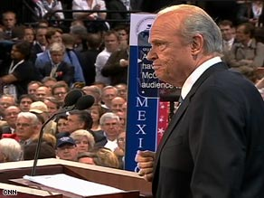"McCain is ""an independent man who thinks for himself,"" Bush said Tuesday night."