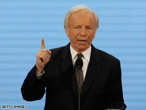 Joe Lieberman felt the brunt of Democratic attacks after he said Barack Obama didn't reach across party lines.