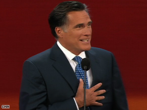 Former Gov. Mitt Romney says Sen. John McCain will rein in government spending.