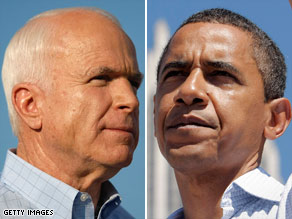 John McCain gets the support of white voters in Ohio, while in Iowa and Minnesota they lean toward Barack Obama.