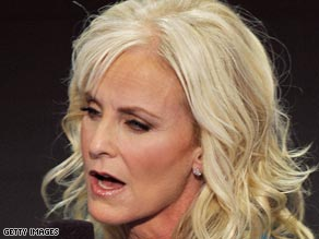 Cindy McCain spoke about her husband at the GOP convention Thursday night.