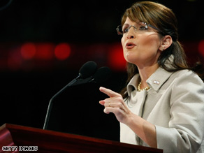 Gov. Sarah Palin's speech Wednesday night fired up Republican delegates.