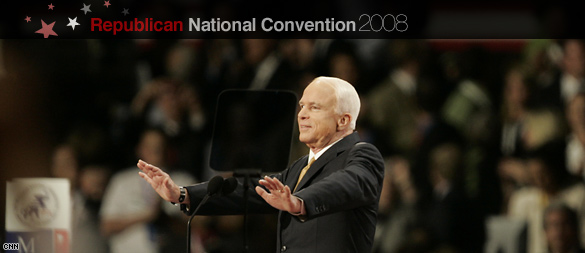 John McCain accepting the Republican Partys nomination.  (CNN)