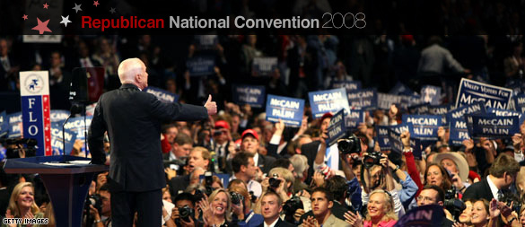 McCain accepting the Republican nomination for president (CNN)