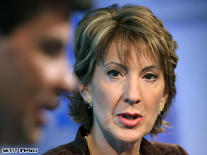 Ex-Hewlett-Packard CEO and McCain adviser Carly Fiorina said   Sarah Palin could not run a major company.