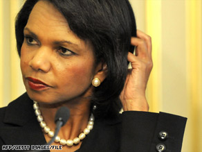 Condoleezza Rice apologized to three presidential hopefuls after their passport files were breached in March.