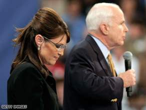 Sarah Palin and John McCain are now behind the Democratic ticket in the polls.