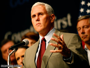 Rep. Mike Pence says Congress should look at free-market options before passing a $700 billion bailout.
