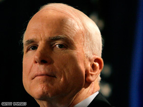 Sen. John McCain said Wednesday that he will not attend Friday's presidential debate.
