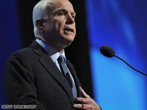 The economic crisis is reminding voters about Republican John McCain's record.