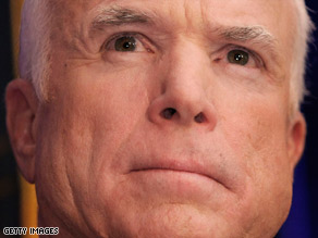 Sen. John McCain says he is ready to work to get a financial rescue plan through Congress.
