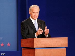 Sen. Joe Biden blamed some of the economic crisis on deregulation policies in which McCain believes.