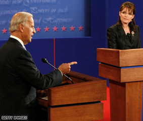 Jabs but no knockouts for Biden, Palin